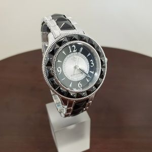 Judith Ripka Black-Silver Ceramic-SS Watch